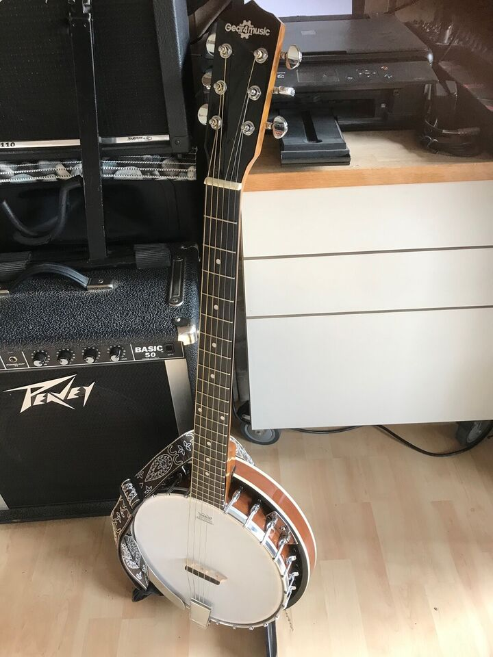 Guitar Banjo, Gear4music 6 strenget guitar banjo