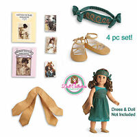 American Girl Rebecca Costume Chest 4 Pc Set Posters Wings Headdress Shoes