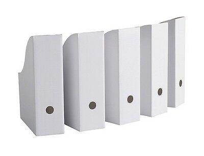 IKEA Magazine Storage Holder File White New 5 Pack Handy Organizing h