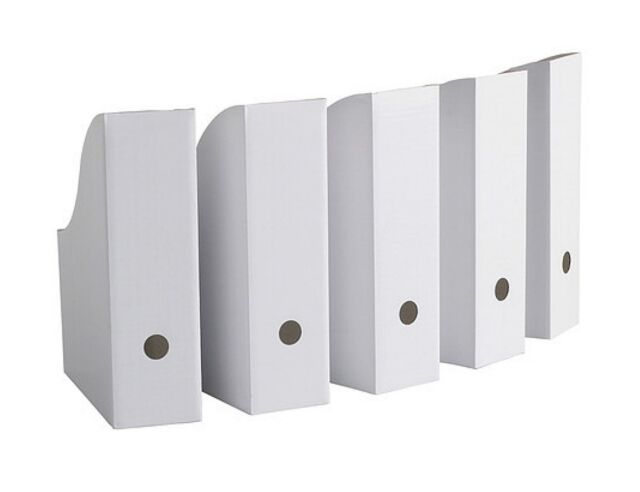 IKEA Magazine Storage Holder File White New 5 Pack FLYT