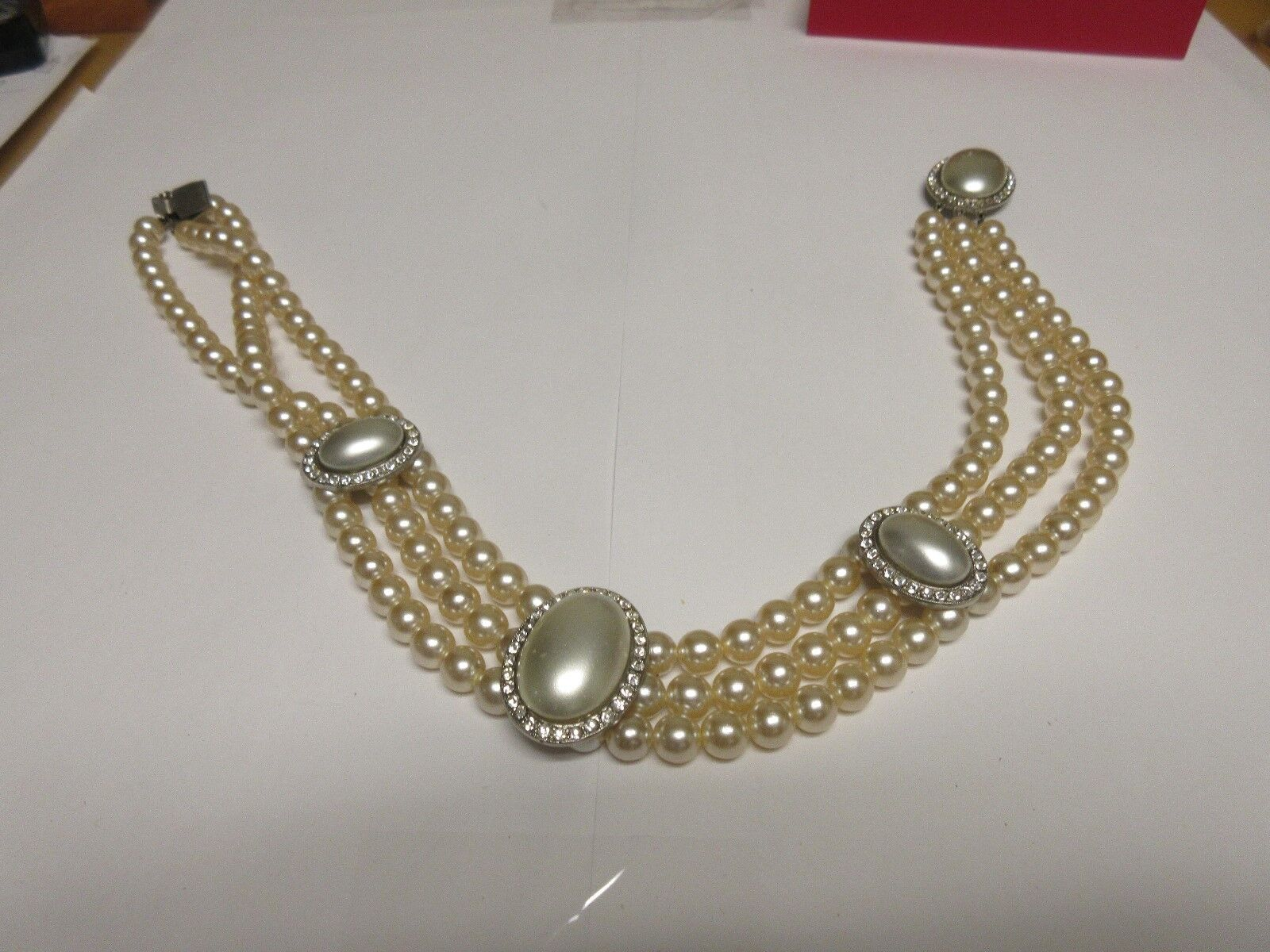 Costume Jewelry , Vintage , Necklace , Pearl / Stone ,