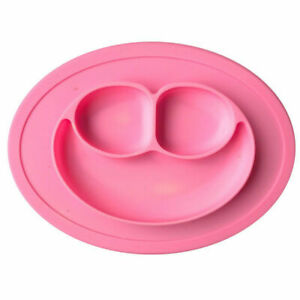 1x-Pink-Silicone-Baby-Snack-Mat-Compact-Lightweight-BPA-free-size-27-x-19-5-x2cm