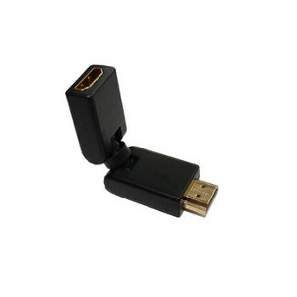 HDMI-Stecker auf HDMI-Kupplung, Winkel Rotator, vergoldete Kontakte, 4K2K Kompa.