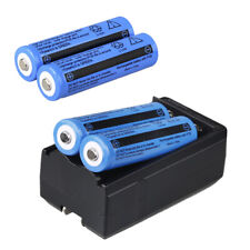 4x Rechargeable Battery 3.7v 3000mAh Li-ion 18650 For Flashlight+Dual US Charger
