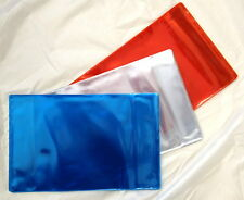 5x PROTECTIVE PLASTIC COVERS FOR SCHOOL EXERCISE BOOKS (CLEAR)
