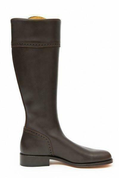 Spanish Leather Riding Boots Classic, Brown, Leather Sole, Brand New, UK 5