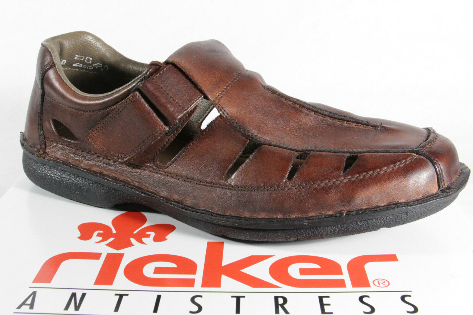 Rieker Slippers Sneakers Low shoes Brown Soft Leather Insole New
