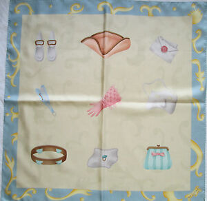 Superbe Foulard BULGARI 100% soie TBEG vintage scarf   eBay 10018f18681