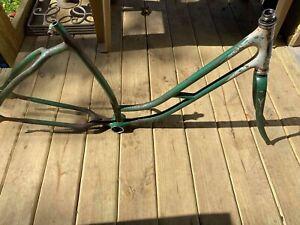 Prewar Vintage 1938 Elgin Collegiate Curved Bar ladies Frame, Fork 26in Bicycle