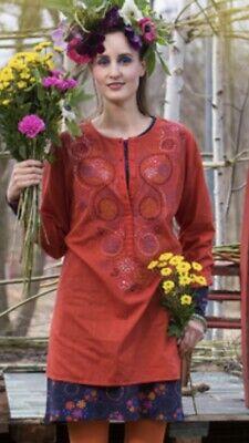 Gudrun Sjoden  embroidered Cotton Chikankari Tunic Size XL 20