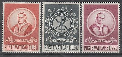"0935 Vatikan 1969 "" St-peter-zirkel "" Satz Nr 3 553-55**"