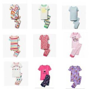 NWT-Gymboree-Girl-2pc-Pajama-Set-Short-Sleeve-Top-and-Pants-Size-4-14