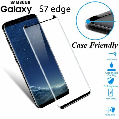 Case Friendly Tempered Glass Screen Protector Full Cover Samsung Galaxy S7 edge
