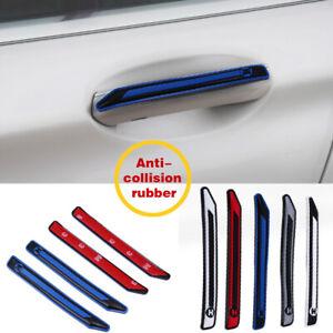 Car Door Edge Guard Strip Accessories Scratch Protector Anti-collision White 4PC