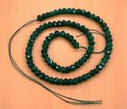 6MM FACETED GREEN EMERALD ROUND SHAPE LOOSE BEADS SEMI PRECIOUS GEMSTONE(19g