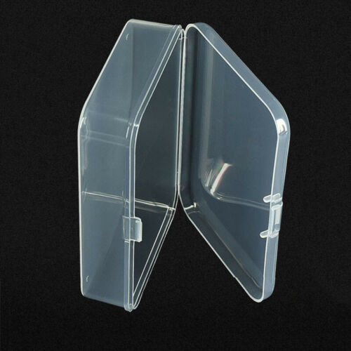 5pcs Mini Plastic Storage Boxes Clear Packaging Jewelry ID Card Case Accessories