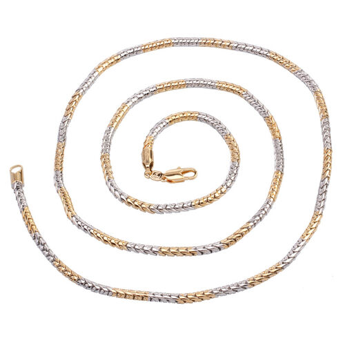 """9ct 9K Yellow /& White /""""Gold Filled/"""" Men,s Lovely Rope 28/"""" chain necklace W=3mm"""