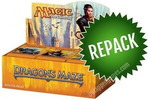 Dragon-039-s-Maze-Booster-Box-Repack-36-Opened-MTG-Packs-In-Box