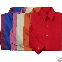 Boys Formal Wedding Tuxedo Dress Shirt Red Blue Pink Burgundy Ivory Sz 0-20