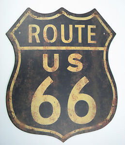 Lamiera SCUDO XXL Route 66 GARAGE CANTINA Party USA HARLEY DAVIDSON Decorazione stadia 							 							</span>