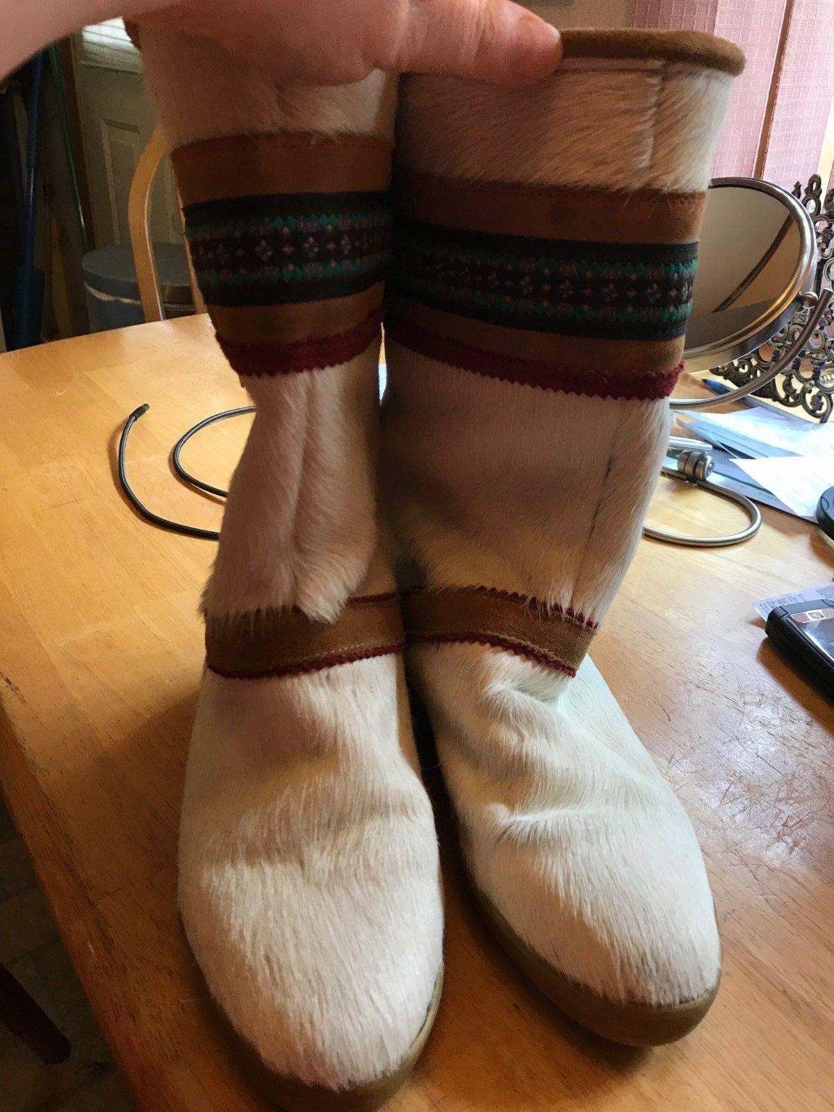 Women's Garden Sport goat fur winter boots, made in , size 38 (7.5 US)