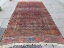 Antique  Hand Made Afghan Baluch Rug Oriental Wool Brown Carpet Rug 358x198cm