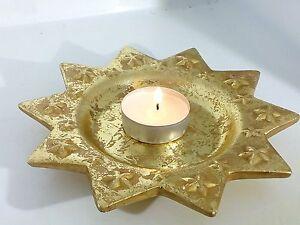 Decorare Candele Natale : Piatto oro stella di natale porta candele addobbo tavola 4 pezzi