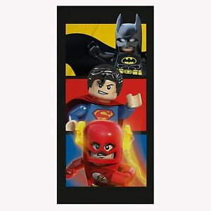 Lego-Dc-Comics-Super-Heros-Serviette-Batman-Superman-Flash-Neuf