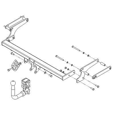 pct towbar for dacia duster suv 20122018  detachable swan neck tow bar   ebay