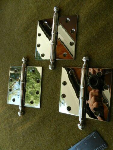 HIGH CHROME,DOOR HINGE LOT OF 3,HEAVY DUTY 4.5 INCH Restoration Hardware NEW