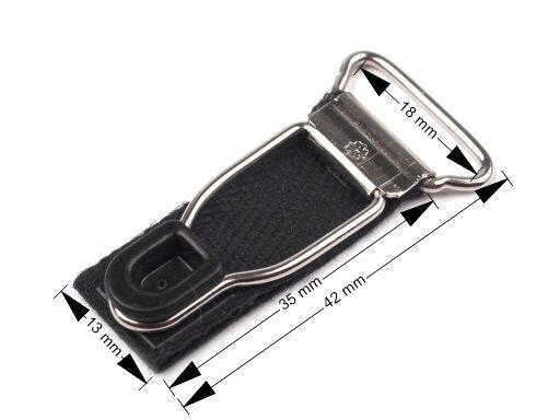 1,72 €/pcs 4 X Jarretelles Fermeture Jarretelles Blanc Noir Largeur 18 Mm-erschluss Strumpfhalter Weiß Schwarz Breite 18mm