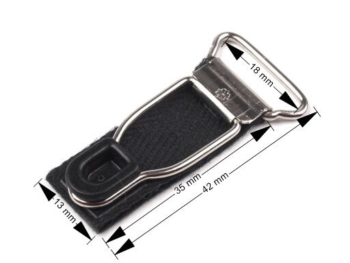 1,72€/Stk  4 x Strumpfhalterverschluss Strumpfhalter weiß schwarz Breite 18mm
