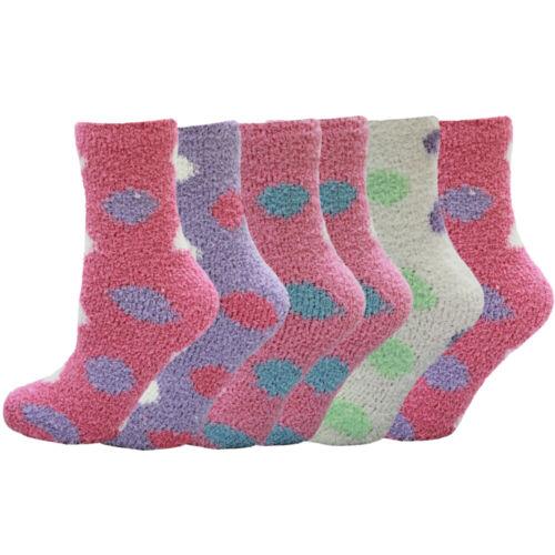 Spots Ladies Super Soft Luxury Warm Cosy Lounge Bed Socks Size 3-5 1//2 Uk