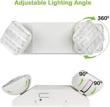 Led Emergency Exit Light Battery Backup Amp Adjustable Two Heads Ul 924 Listed