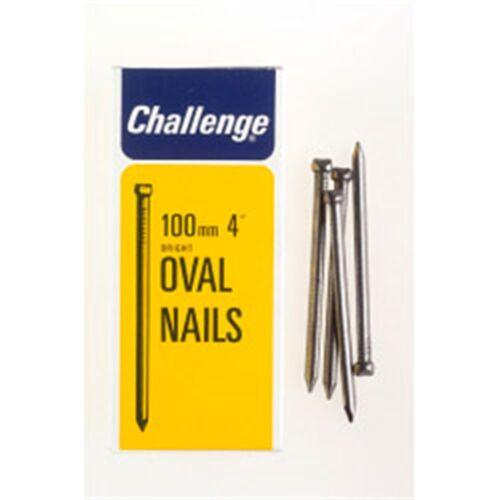 Défi Ovale Fil Ongles Lumineux acier Box Pack 100 mm