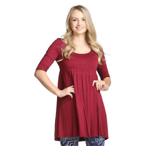 Details about Plus Size Babydoll Tunic Dress