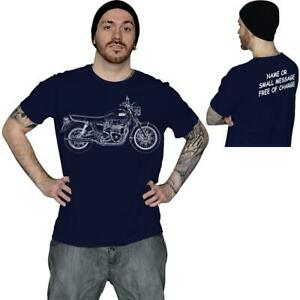 Bonneville-T100-Bosquejo-De-La-Motocicleta-Moto-Motociclista-T-shirt-regalo-de-cumpleanos