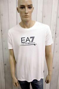 EMPORIO-ARMANI-Uomo-Taglia-2XL-Slim-T-Shirt-Cotone-Casual-Maglietta-Manica-Corta