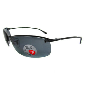 37368a34813 Image is loading Rayban-Sunglasses-Top-Bar-3183-Shiny-Black-Polarized-
