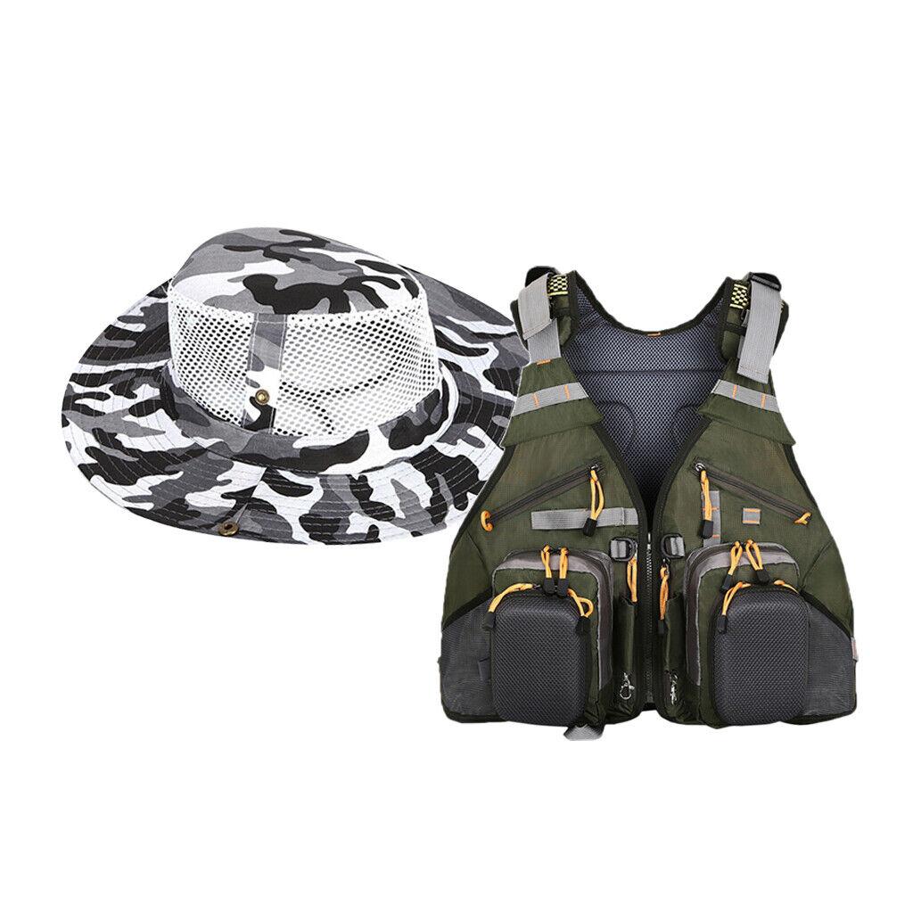 Traspirante volare pescatori Zaino Gilet Combo chest Pack con ampi