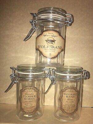 Harry Potter Glass Favor Wolfsbane Potion Mandrake Jars Easter