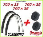 2 x COPERTONE 700 x 23 - 700 x 25 - 700 x 28 CONDORINO bici + 2 x CAMERA D'ARIA