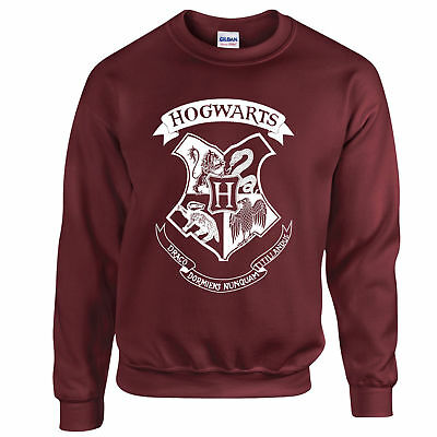 HOGWARTS HARRY POTTER UNISEX  SWEATER SWEATSHIRT JUMPER PULLOVER Top Quality