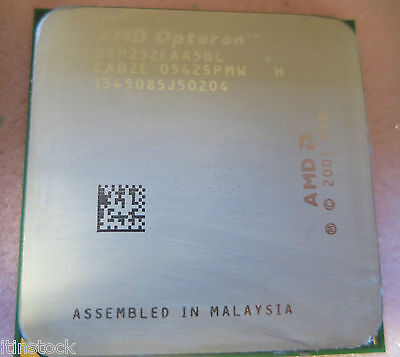 Amd Opteron 252 Processore 2.6 Ghz 0sp252faa5bl-