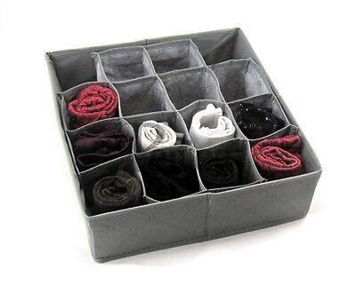 Storage Box Wardrobe Oganiser Drawer Organiser Socks Underbed Grey- Sophia