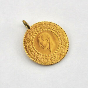 Turkey-25-Piastres-Kurush-MDL-22-k-Gold-Coin-W-1-8-grams-Diameter-17-7-mm