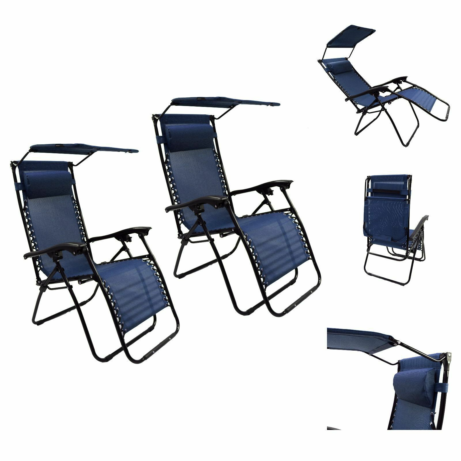 2pc lounge patio chairs outdoor yard zero gravity folding for Chaise zero gravite