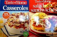 Taste Of Home 2 Pack: Salads & Sandwiches And Casseroles Hardcover Set