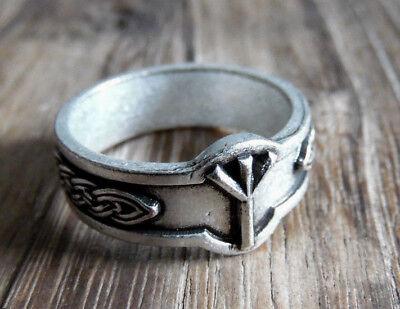 Algiz Rune Ring Wikinger Germanen Futhark Elhaz Vikings   eBay