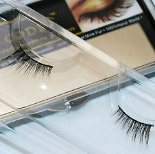 K23 1Pair Makeup Handmade Natural Mink Hair Half Eye Lashes False Eyelashes